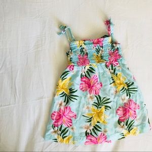 Carter's- Tropical Flower 🌸 Dress- Baby Blue